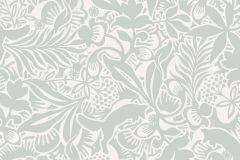 1478 cikkszámú tapéta.Absztrakt,gyerek,rajzolt,természeti mintás,virágmintás,fehér,szürke,zöld,lemosható,vlies tapéta