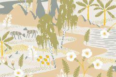 1480 cikkszámú tapéta.Absztrakt,állatok,gyerek,rajzolt,természeti mintás,virágmintás,bézs-drapp,fehér,kék,sárga,szürke,zöld,lemosható,vlies tapéta