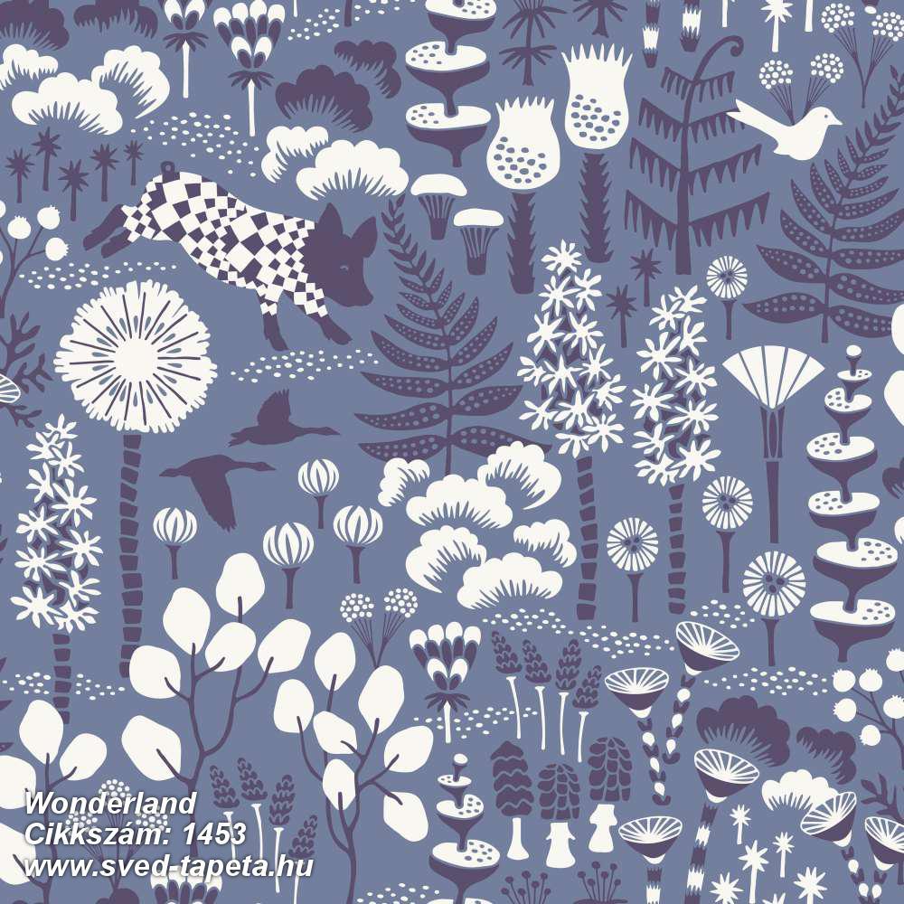 Wonderland 1453 cikkszámú svéd Borasgyártmányú designtapéta