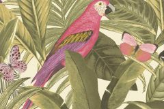 BA2202 cikkszámú tapéta.állatok,természeti mintás,lila,pink-rózsaszín,sárga,vajszínű,zöld,súrolható,vlies tapéta