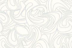 CD3105 cikkszámú tapéta.Absztrakt,különleges motívumos,fehér,szürke,lemosható,vlies tapéta
