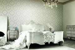 BL1001-4 cikkszámú tapéta.Barokk-klasszikus,különleges felületű,gyöngyház,szürke,lemosható,vlies tapéta
