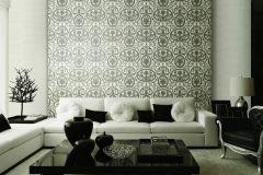 BL1003-1 cikkszámú tapéta.Barokk-klasszikus,különleges felületű,szürke,lemosható,vlies tapéta