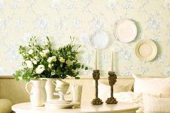 BL1005-1 cikkszámú tapéta.Barokk-klasszikus,különleges felületű,virágmintás,bézs-drapp,fehér,szürke,lemosható,vlies tapéta