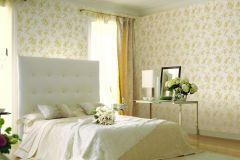 BL1005-3 cikkszámú tapéta.Barokk-klasszikus,különleges felületű,virágmintás,arany,fehér,lemosható,vlies tapéta