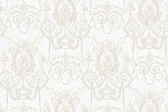 BL1007-1 cikkszámú tapéta.Barokk-klasszikus,különleges felületű,bézs-drapp,fehér,gyöngyház,lemosható,vlies tapéta