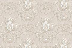 BL1007-2 cikkszámú tapéta.Barokk-klasszikus,különleges felületű,bézs-drapp,fehér,lemosható,vlies tapéta