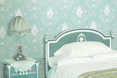 BL1007-4 cikkszámú tapéta.Barokk-klasszikus,különleges felületű,fehér,kék,szürke,lemosható,vlies tapéta