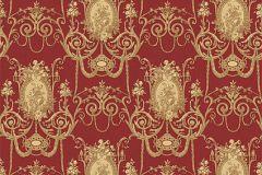 BL1007-5 cikkszámú tapéta.Barokk-klasszikus,különleges felületű,arany,piros-bordó,lemosható,vlies tapéta