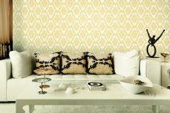 BL1009-2 cikkszámú tapéta.Barokk-klasszikus,különleges felületű,arany,fehér,lemosható,vlies tapéta