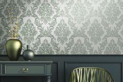 BL1009-4 cikkszámú tapéta.Barokk-klasszikus,különleges felületű,ezüst,szürke,lemosható,vlies tapéta