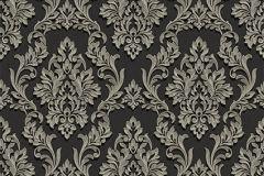 BL1009-5 cikkszámú tapéta.Barokk-klasszikus,különleges felületű,fekete,szürke,lemosható,vlies tapéta