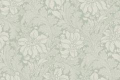 5350 cikkszámú tapéta.Barokk-klasszikus,virágmintás,fehér,szürke,zöld,lemosható,vlies tapéta