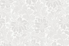 5353 cikkszámú tapéta.Barokk-klasszikus,virágmintás,fehér,sárga,lemosható,vlies tapéta