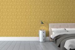 5354 cikkszámú tapéta.Barokk-klasszikus,virágmintás,arany,lemosható,vlies tapéta