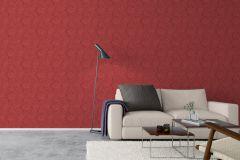 5355 cikkszámú tapéta.Barokk-klasszikus,virágmintás,piros-bordó,lemosható,vlies tapéta