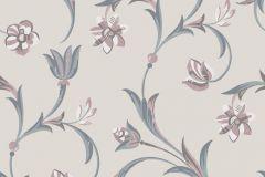 5359 cikkszámú tapéta.Barokk-klasszikus,virágmintás,barna,bézs-drapp,fehér,szürke,lemosható,vlies tapéta