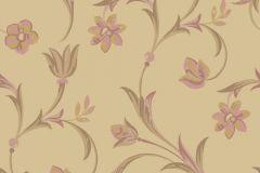 5360 cikkszámú tapéta.Barokk-klasszikus,virágmintás,arany,pink-rózsaszín,lemosható,vlies tapéta