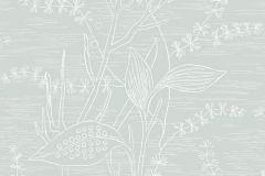 5368 cikkszámú tapéta.Természeti mintás,virágmintás,fehér,szürke,lemosható,vlies tapéta