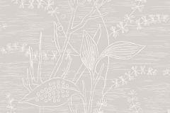 5370 cikkszámú tapéta.Rajzolt,természeti mintás,virágmintás,fehér,szürke,lemosható,vlies tapéta