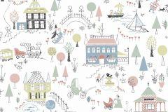5382 cikkszámú tapéta.Emberek-sztárok,gyerek,rajzolt,fehér,fekete,kék,narancs-terrakotta,pink-rózsaszín,szürke,zöld,lemosható,vlies tapéta