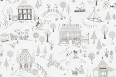 5383 cikkszámú tapéta.Emberek-sztárok,gyerek,rajzolt,retro,fehér,szürke,lemosható,vlies tapéta