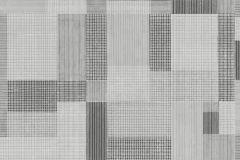 5385 cikkszámú tapéta.Absztrakt,geometriai mintás,textilmintás,fehér,fekete,szürke,lemosható,vlies tapéta