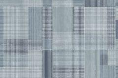 5386 cikkszámú tapéta.Absztrakt,geometriai mintás,textilmintás,kék,szürke,lemosható,vlies tapéta