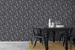 6061 cikkszámú tapéta.Fa hatású-fa mintás,különleges motívumos,rajzolt,fehér,fekete,lemosható,vlies tapéta