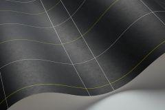 1805 cikkszámú tapéta.Kockás,geometriai mintás,absztrakt,különleges motívumos,rajzolt,fehér,fekete,lemosható,vlies tapéta