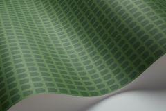 1824 cikkszámú tapéta.Kockás,geometriai mintás,természeti mintás,zöld,lemosható,vlies tapéta
