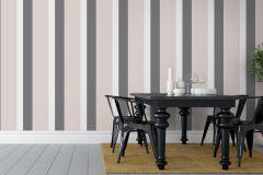 1830 cikkszámú tapéta.Csíkos,fehér,szürke,pink-rózsaszín,lemosható,illesztés mentes,vlies tapéta