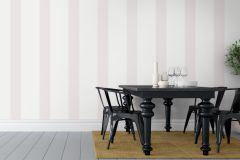 1831 cikkszámú tapéta.Csíkos,fehér,pink-rózsaszín,lemosható,illesztés mentes,vlies tapéta