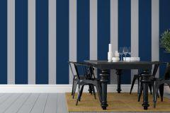 1833 cikkszámú tapéta.Csíkos,fehér,szürke,kék,lemosható,illesztés mentes,vlies tapéta