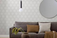 9305 cikkszámú tapéta.Geometriai mintás,különleges felületű,fehér,szürke,lemosható,vlies tapéta