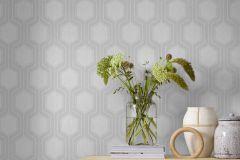 9306 cikkszámú tapéta.Geometriai mintás,különleges felületű,szürke,lemosható,vlies tapéta