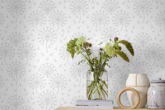 9316 cikkszámú tapéta.Különleges felületű,virágmintás,fehér,szürke,lemosható,vlies tapéta
