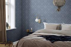 9321 cikkszámú tapéta.Barokk-klasszikus,különleges felületű,kék,lemosható,vlies tapéta