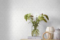 9324 cikkszámú tapéta.Barokk-klasszikus,különleges felületű,fehér,szürke,lemosható,vlies tapéta