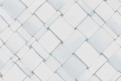4052 cikkszámú tapéta.3d hatású,absztrakt,geometriai mintás,kockás,különleges motívumos,fehér,szürke,lemosható, tapéta