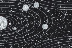 8802 cikkszámú tapéta.Absztrakt,különleges motívumos,rajzolt,ezüst,fekete,lemosható,vlies tapéta