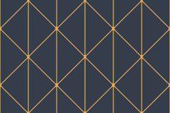 8804 cikkszámú tapéta.Absztrakt,geometriai mintás,arany,kék,lemosható,vlies tapéta