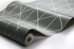 8806 cikkszámú tapéta.Absztrakt,geometriai mintás,bronz,zöld,lemosható,vlies tapéta