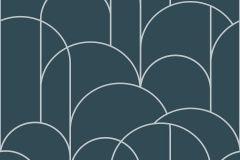 8825 cikkszámú tapéta.Absztrakt,különleges motívumos,rajzolt,ezüst,kék,lemosható,vlies tapéta