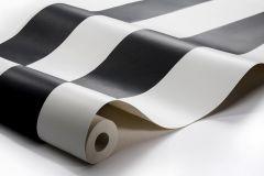 8843 cikkszámú tapéta.Csíkos,dekor,fehér,fekete,lemosható,illesztés mentes,vlies tapéta