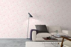 9231 cikkszámú tapéta.Geometriai mintás,különleges motívumos,barna,fehér,pink-rózsaszín,lemosható, tapéta