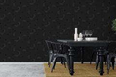 9234 cikkszámú tapéta.Geometriai mintás,különleges motívumos,fekete,szürke,lemosható, tapéta