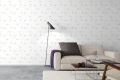 9246 cikkszámú tapéta.Geometriai mintás,különleges motívumos,fehér,szürke,gyengén mosható, tapéta