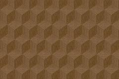6362 cikkszámú tapéta.3d hatású,geometriai mintás,metál-fényes,barna,lemosható,vlies tapéta