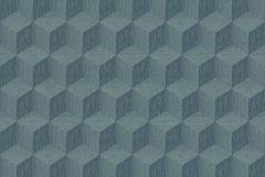 6363 cikkszámú tapéta.3d hatású,geometriai mintás,metál-fényes,kék,szürke,lemosható,vlies tapéta